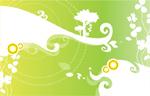 矢量绿色抽像花纹