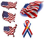 矢量美国国旗元素