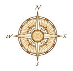 矢量指南针图形