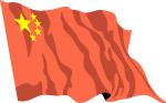 矢量飘动的国旗
