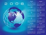2008年全年日历