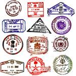国外怀旧邮戳