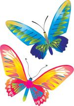 矢量花蝴蝶