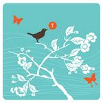 枝头唱歌的小鸟