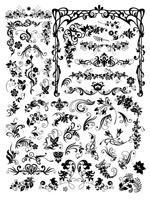 欧式时尚黑白花纹