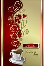 爱心咖啡矢量