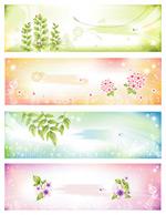 梦幻树叶与花卉