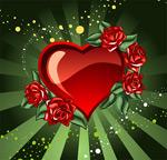 爱心与玫瑰