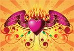 火焰翅膀爱心