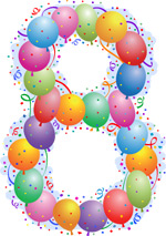 气球组合成的8字