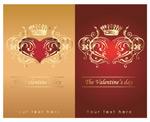 皇冠花纹与心形