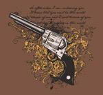 手枪与花纹