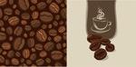 矢量咖啡豆