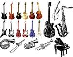 矢量各种乐器