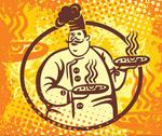 手绘外国厨师