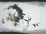 水墨丹青-采菊