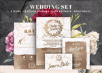 婚礼主题元素PSD