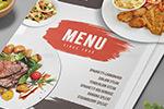 西餐厅菜单