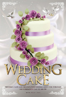 浪漫婚礼蛋糕海报