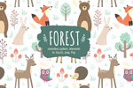 卡通森林动物