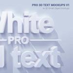 白色3D字体样机