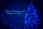 发光圣诞树矢量