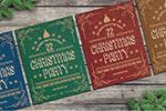 圣诞复古派对海报