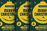 黄绿圣诞节海报