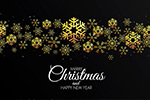 黑金圣诞节卡片