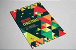 圣诞节几何海报