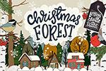 圣诞森林剪贴画