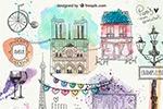 巴黎印象手绘涂鸦