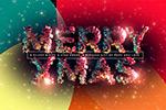 马赛克圣诞字体