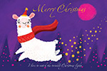 手绘圣诞节明信片