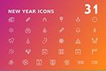 新年矢量图标