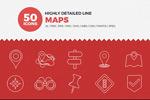 线形地图类图标