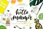 矢量夏季手写字母