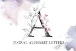 花卉字母集合PNG