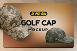 高尔夫球帽子样机
