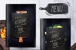 黑色风格菜单模板