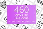 市生活线性图标