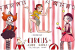 马戏团女孩插图