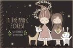 魔法森林风格插图