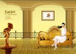 室内金色家具
