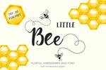 小蜜蜂字体logo