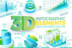 3D信息图表元素