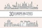 欧洲城市线形轮廓