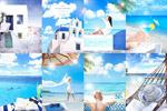 海边度假主题海报