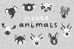 卡通动物插图矢量