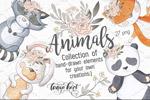 手绘动物集合